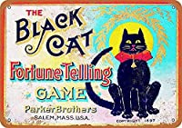 黒猫の調子を伝えるゲーム 金属板ブリキ看板警告サイン注意サイン表示パネル情報サイン金属安全サイン
