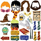 27pc Magical Wizard School Photo Booth Props For Children Birthday Wizard School Party Supplies,Dress Up Novelty Decorations