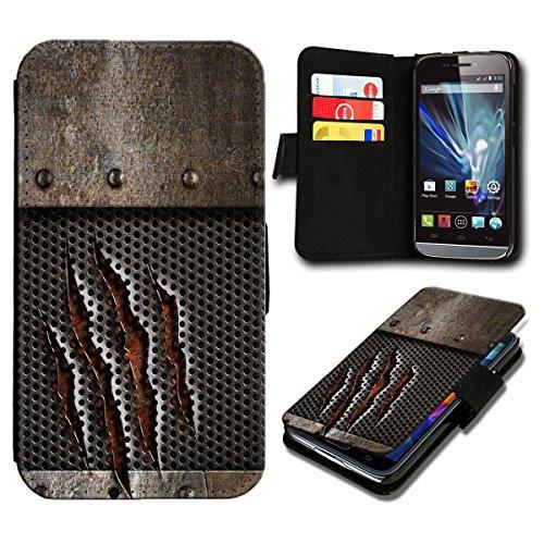 sw-mobile-shop Book Style Wiko Getaway Premium PU-Leder Tasche Flip Brieftasche Handy Hülle mit Kartenfächer für Wiko Getaway - Design Flip SB2