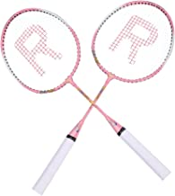 TOPINCN Badminton Rackets Pair of 2 Badminton Racquet Super Lightweight Cartoon Kids Badminton Racket Including 1 Carrying Bag for Beginner Players