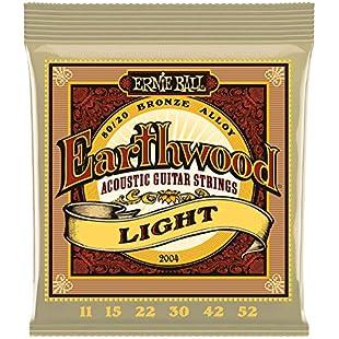 Customer reviews Ernie Ball Earthwood Light 80/20 Bronze Acoustic Set, .011 - .052