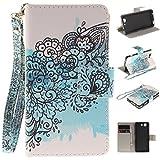Qiaogle Téléphone Coque - PU Cuir Rabat Wallet Housse Case pour Sony Xperia Z3 Compact / Z3 Mini...
