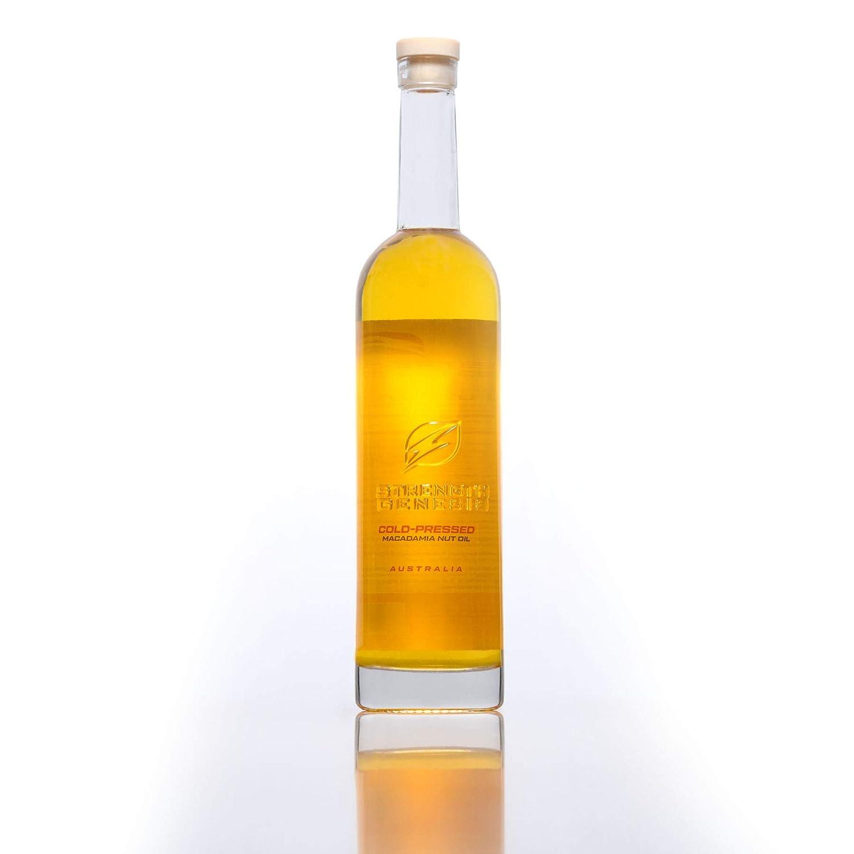 Strength Genesis Australian Macadamia Nut Oil, Cold-Pressed Macadamia Oil for Cooking, 500-Milliliter Bottle