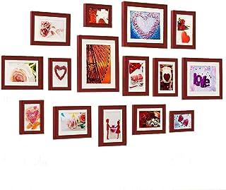 LONGWDS Marco de Fotos Foto decoración de la Pared de Madera Maciza Pared de la Sala de Estar Foto de la Pared del Marco d...