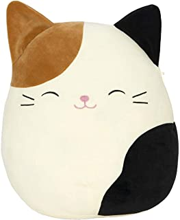 SQUISHMALLOW Cameron The Cat Pillow Stuffed Animal, Tricolor, 16