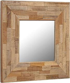VidaXL Miroir Teck Recyclé 50x50 Cm Entrée Mural Toilette Miroir Salle De  Bain