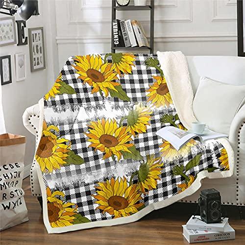 Sonnenblume Decke 150x200cm Wohndecke...