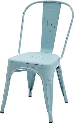 Fashion Commerce 04-fc574 Juego de 4 sillas Mod. tolix Azules anticate, Metal