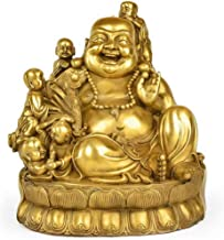 Home Accessories Laughing Buddha Ornamental,Buddha Statue for Happy Happiness,Feng Shui Figurines Wealth and Good Luck Gol...