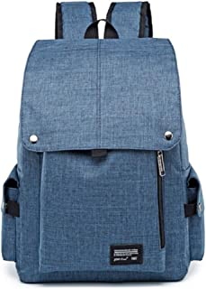 CHENDX Handbags Men's and Women's Fashion Oxford Cloth Flip Large Capacity Backpack Multi-Function Outdoor Travel Bag (Color : Blue, Size : 42cm*29cm*13cm)