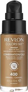 3 x Revlon Colorstay Pump 24HR Make Up SPF15 Comb/Oily Skin 30ml - Caramel