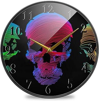 Mzdpp Nombre De DJ Personalizado Impreso DJ Reloj De Pared Disco ...