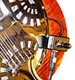 Vintage Regal Resonator Guitar Pickup with Flexible Micro-Gooseneck by Myers Pickups