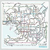 東京カートグラフィック 鉄道路線図 ハンカチ 関西日本語 × 5 セット RHKJ