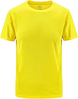 OULSEN Men's Fashion Solid Color T-shirt O-Neck Short Sleeve Gym Quick-drying Fitness Sport Tees Summer Plus Size Casual Top Blouse For Men
