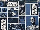 Star Wars Stoff – Schwarz-grauer Darth Vader Stoff –