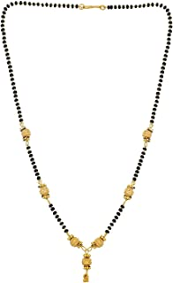 Efulgenz Indian Bollywood Traditional Gold Plated Ethnic Mangalsutra Necklace Jewelry for Women