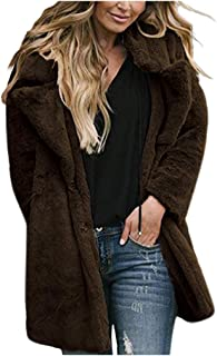 Coat for Women Winter Warm Fashion Vintage Long Sleeve Thicker Jacket Outwear