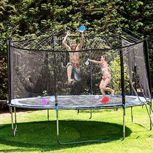 FancyWhoop Trampolin Sprinkler Wasserpark 10M/32.8FT Trampolin Sprühnebel Zubehör für Kinder Jungen Mädchen Erwachsene (10m)