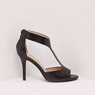 Shoexpress Textured Peep Toe Stiletto Heels