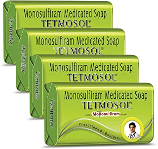 Tetmosol Medicated Soap- fights skin infections, itching with lime like fragrance for daily bathing - Pack of 4 (4x100gms)