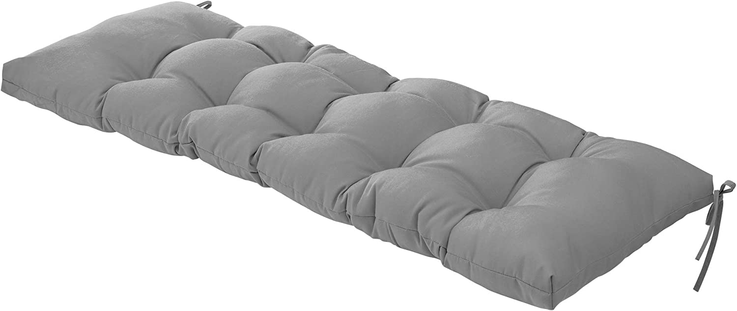 QILLOWAY Indoor Outdoor New color Bench Finally resale start Grey Cushion 51-Inches