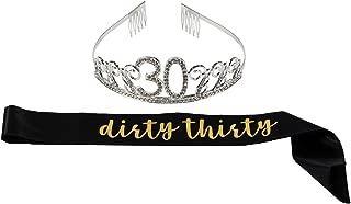 30th birthday sash and tiara