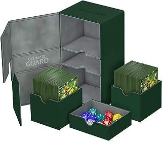 Ultimate Guard Twin Flip´n´Tray Deck Case, 200 Plus, Standard Size, XenoSkin, Green
