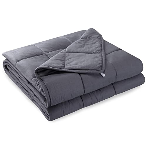 Anjee Weighted Blanket Great for Sleeping, 6.8 kg Heavy Blanket for 55-100 kg Persons,Sensory Blanket for Better Sleep and Relaxing (150 x 200 cm)