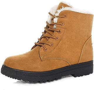 Alicegana Women Boots Ankle Platform Cotton Warm Fur Snow...