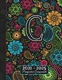 2021-2025: Agenda 5 Anni I Nome Iniziale C I Regalo Calendario Monogramma I Rubrica I Note I Lista di cose da fare I Annuale e Mensile I Pianificatore Quinquennale