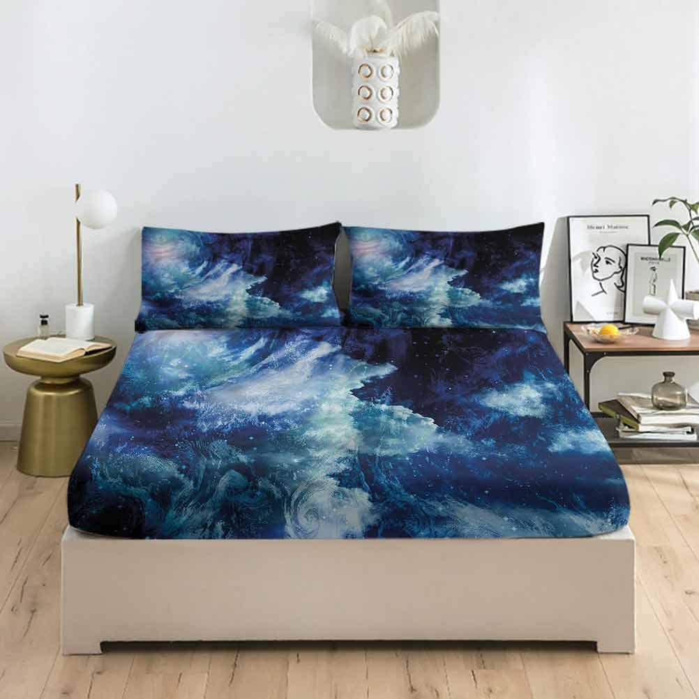 LCGGDB Space Queen Size Fitted Pillowcase Sheet Regular store and Sets UFOs Bargain sale