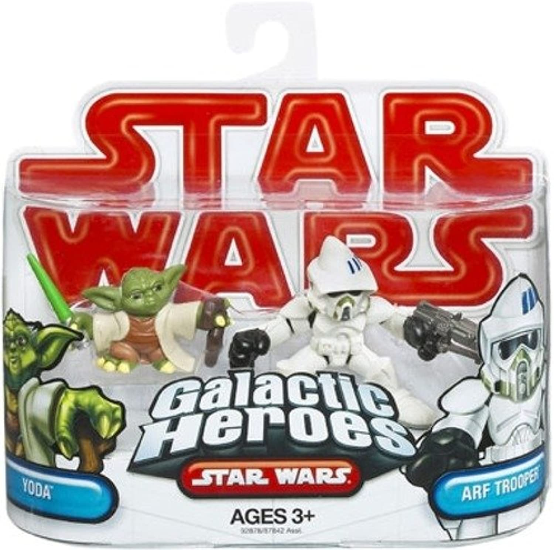 Hasbro Star Wars 2009 Galactic Heroes 2-Pack Clone Arf Trooper And Yoda