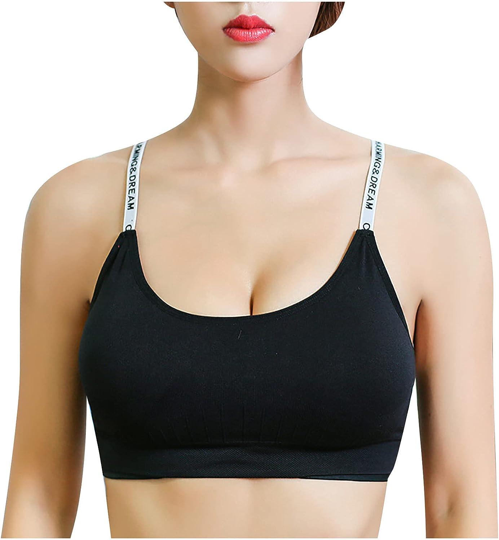 EseFGJK Sport Bra,Solid Color Back Cross Yoga Running Fitness Seamless Underwear Bras for Women