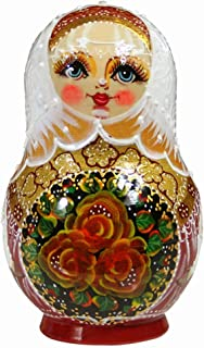 Color : Blue//white Matrioska 15 pezzi di nidificazione Dolls stile cinese matryoshka impilabile in legno nidificato giocattolo fatto a mano for bambini bambini natale desiderio regalo Russian Doll