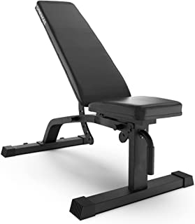 Synergee Adjustable Incline Decline Workout Bench - Weight Bench for Dumbbell & Barbell Press Exercises & Workouts - Great...