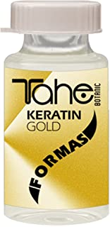 Tahe Botanic Keratin Gold Formas Ampollas con Oro Líquido y Keratina Pura, 10 x 10 ml