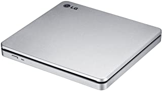LG Electronics 8X USB 2.0 Super Multi Ultra Slim Slot Portable DVD+/-RW External Drive with M-DISC Support, Retail (Silver...