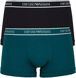 Emporio Armani Bodywear Men's Men's Knit 2-Pack TR, Baltico/Nero