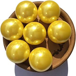 EmmaGreen Pearls Pearl Round Loose Beads 6mm-30mm A02 Bright Yellow Smooth Beading Jewelry Making Vase Filler