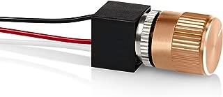 12 Volt DC Dimmer for LED, Halogen, Incandescent - RV, Auto, Truck, Marine, and Strip Lighting - Short Shaft - Gold