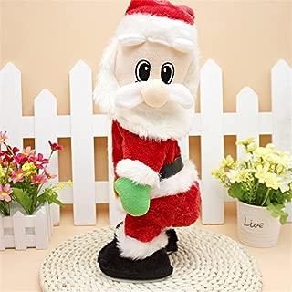 SdeNow Twerking Santa Claus, Shaking Hips Santa Claus Singing Dancing Christmas Santa Claus Toys Xmas Electric Dolls Gift for Kids