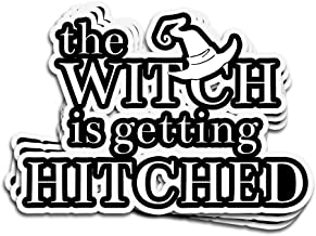 Lucky Star 3 PCs Stickers The Witch is Getting Hitched Funny Bachelorette Party for Women Bridal Shower Congratulations 4 × 3 Inch Die-Cut Wall Decals for Laptop Window