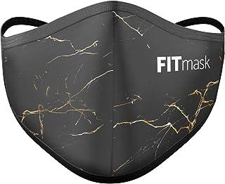 FITmask Mascarilla Pro Reutilizable Lavable Certificada Tejido Hidrófugo Made in Spain Gold Marble - Adulto Cabecera - M