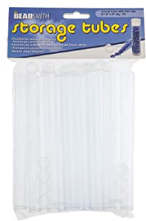 Beadsmith Tube Plastic Rnd W/flat Cap, 6 X 9/16 -20/bg - PT6-R