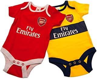 Arsenal FC Baby Unisex Bodysuit (Pack Of 2)