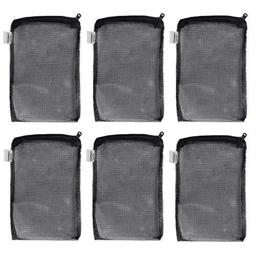 """AQUANEAT Filter Media Mesh Bags Plastic Zipper Reusable for Aquarium Fish Tank koi Pond (8""""x5.5"""" (6pcs))"""