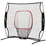 PERFECT TRAINING EQUIPMENT: The Flexpro backstop net is the perfect piece of training equipment for young players to work on their hitting, throwing, and pitching skills HIGH PERFORMANCE: This net is constructed with all-weather heavy duty netting, f...
