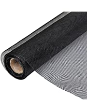 Tidyard vliegengaas 150 x 1000 cm rol vliegengaas van glasvezel | kleur zwart