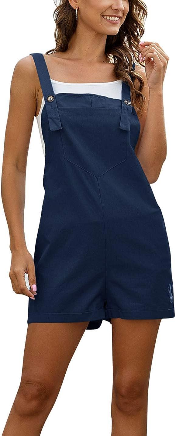 PAODIKUAI Women's Summer Cotton Sleeveless Portland Mall Linen Rompers Gorgeous Shorts